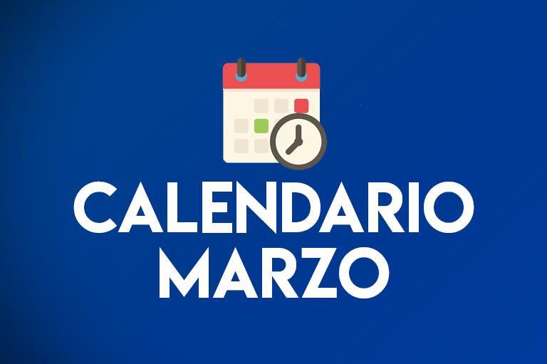 Calendario Marzo 2021